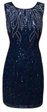 TFNC Maine Navy Embellished Dress