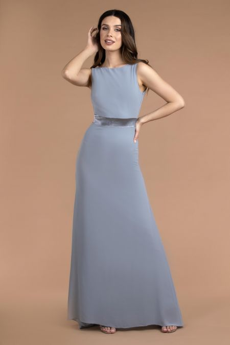 TFNC Halannah Grey Blue Maxi Dress