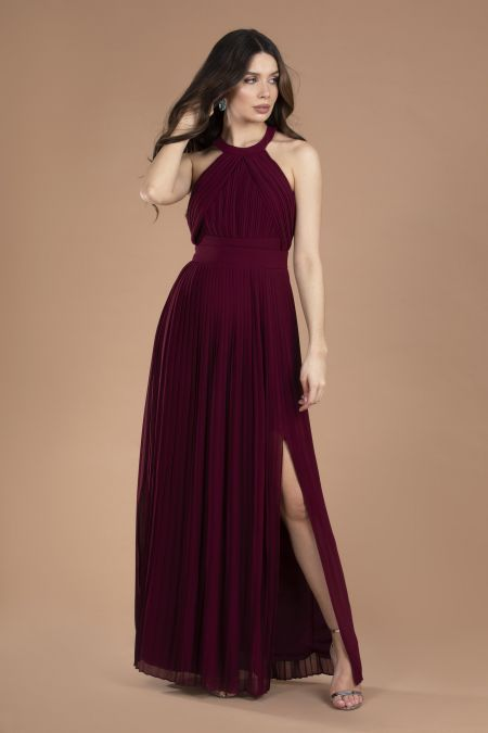 TFNC Prague Burgundy Maxi Dress