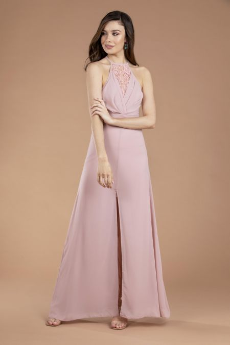 TFNC Khela Mink Maxi Dress