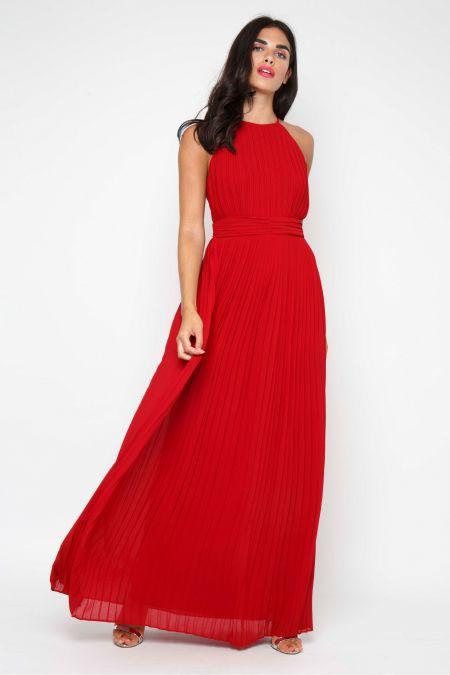 TFNC Serene Winter Wine Maxi Dress