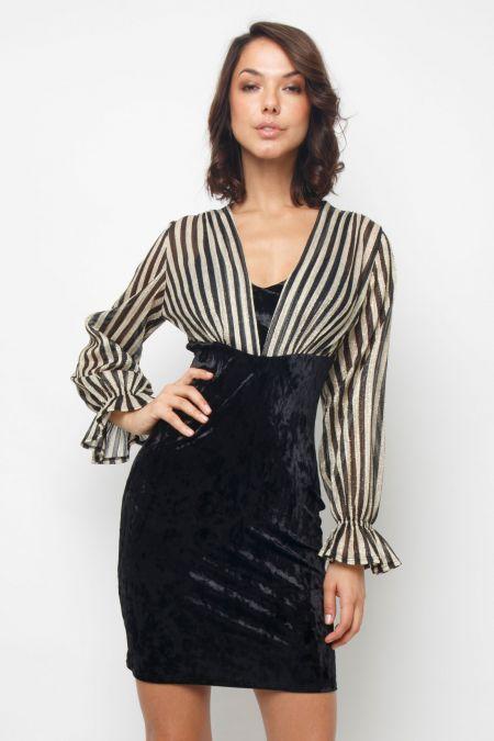 TFNC Chrissie Black Midi Dress