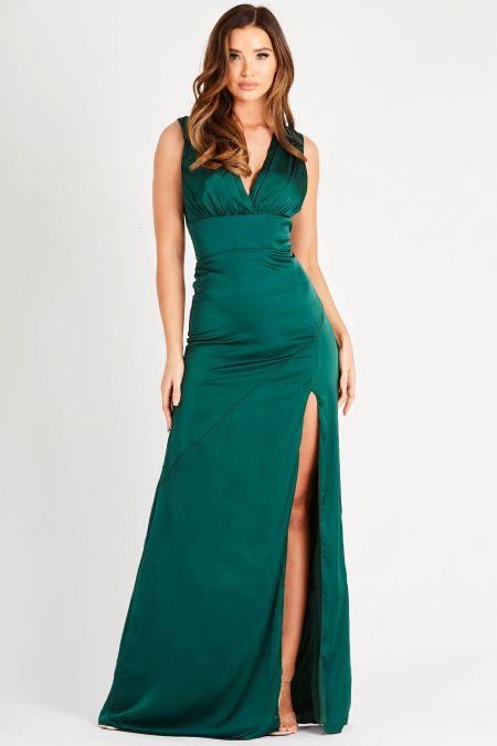 TFNC Jarell Green Maxi Dress
