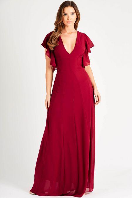 TFNC Priya Mulberry Maxi Dress