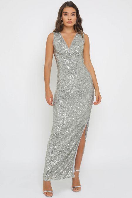 TFNC Sadiya Sage Green Maxi Dress