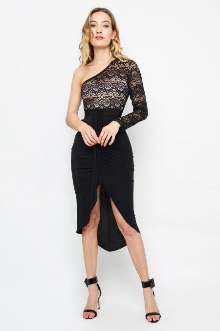 TFNC Kalya Black Midi Dress