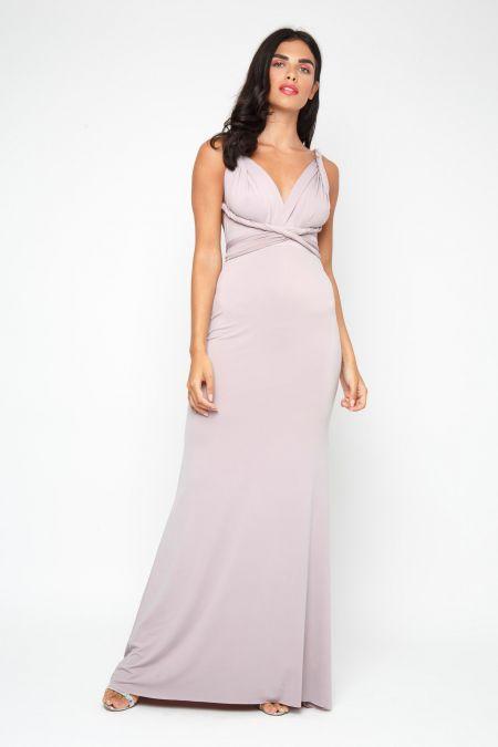 TFNC Multi Way Grey Maxi Dress
