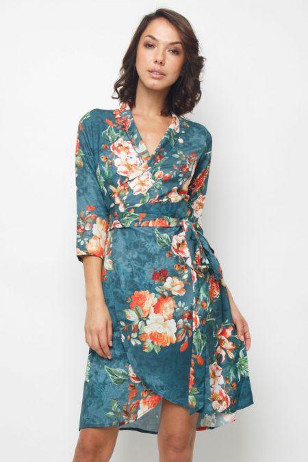 Lace & Beads Corella Green Midi Dress