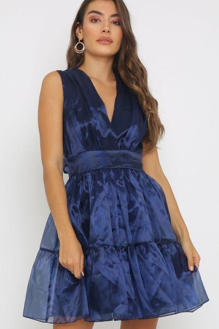 TFNC Pietra Navy Mini Dress
