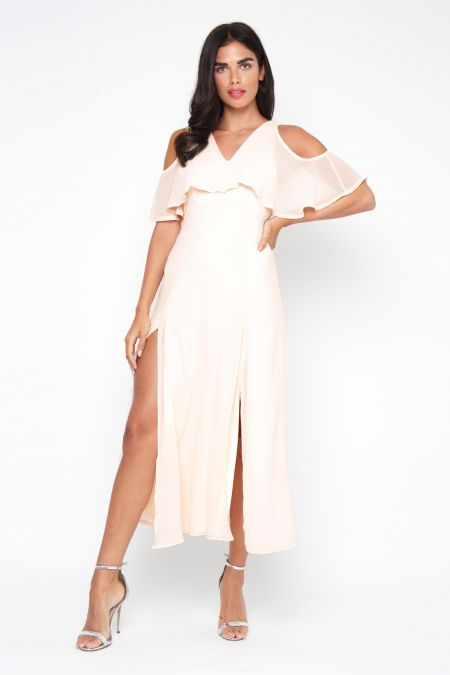 TFNC Neferetiti Nude Midi Dress
