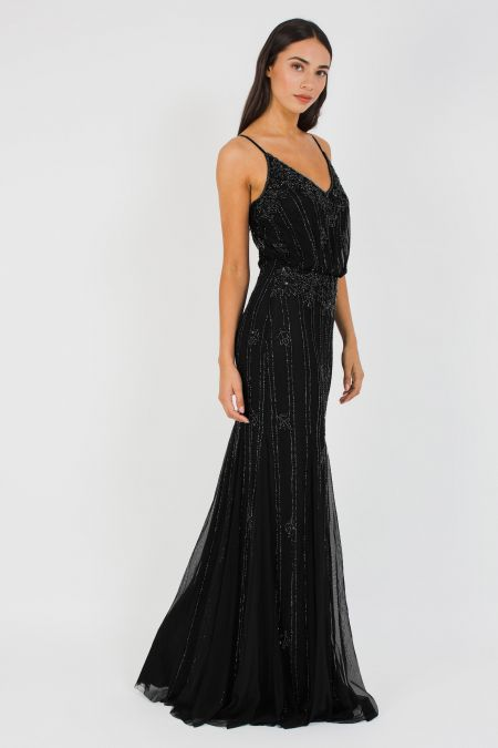 Lace & Beads Keeva Black Maxi Dress
