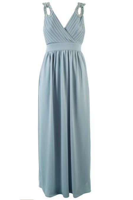 TFNC Debby Light Blue Maxi Dress