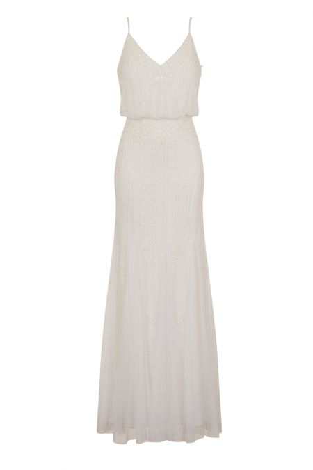 Lace & Beads Keeva White Maxi Dress