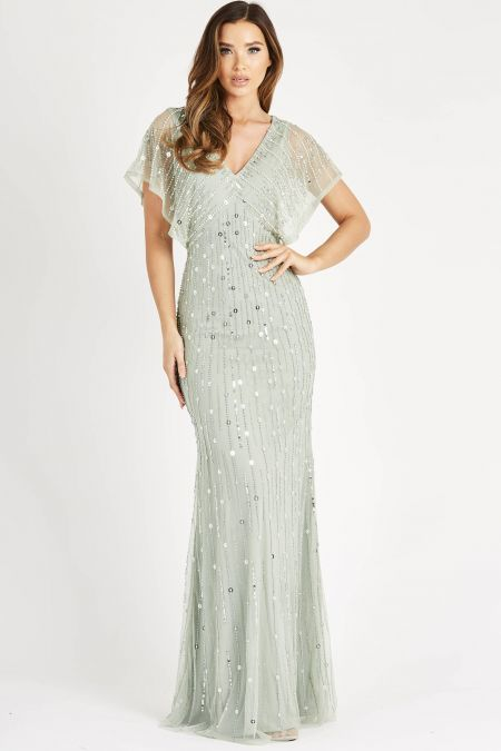 Lace & Beads Seahouse Sea Form Maxi Dress