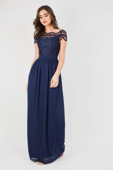 TFNC Abilina Maxi Navy Dress