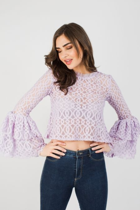 Lace & Beads Lunette Lavender Top