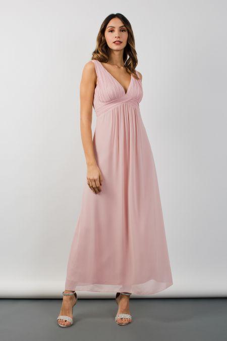 TFNC Valerie Pearl Pink Maxi Dress