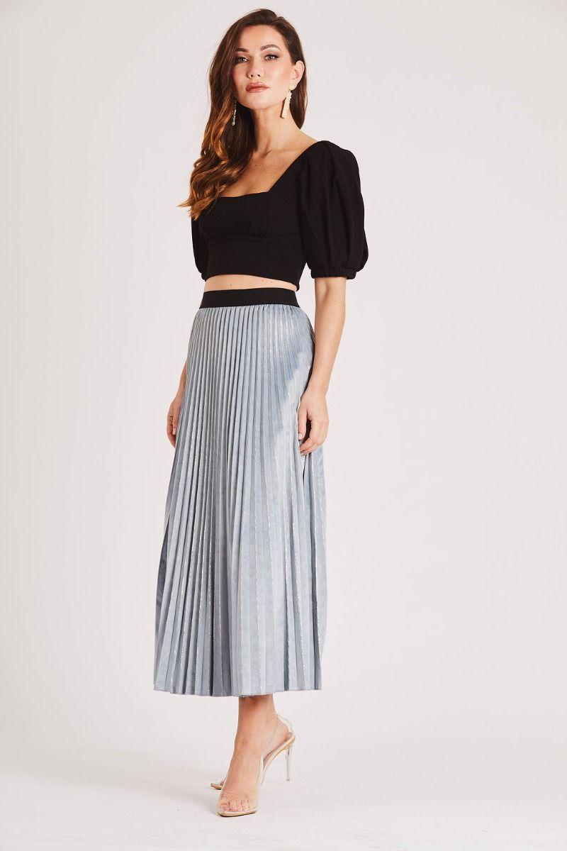 Skirt Stiletto Sia Blue And Silver Midi Skirt Skirt Stiletto Party Dresses