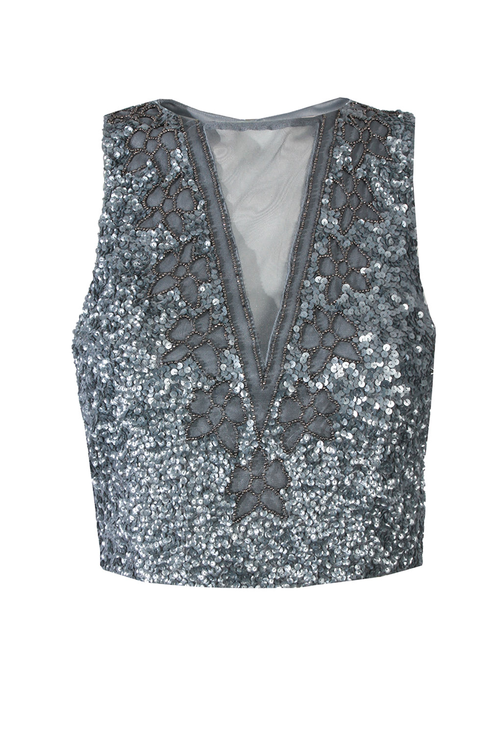 Image of Lace & Beads Anastasia Blue Top