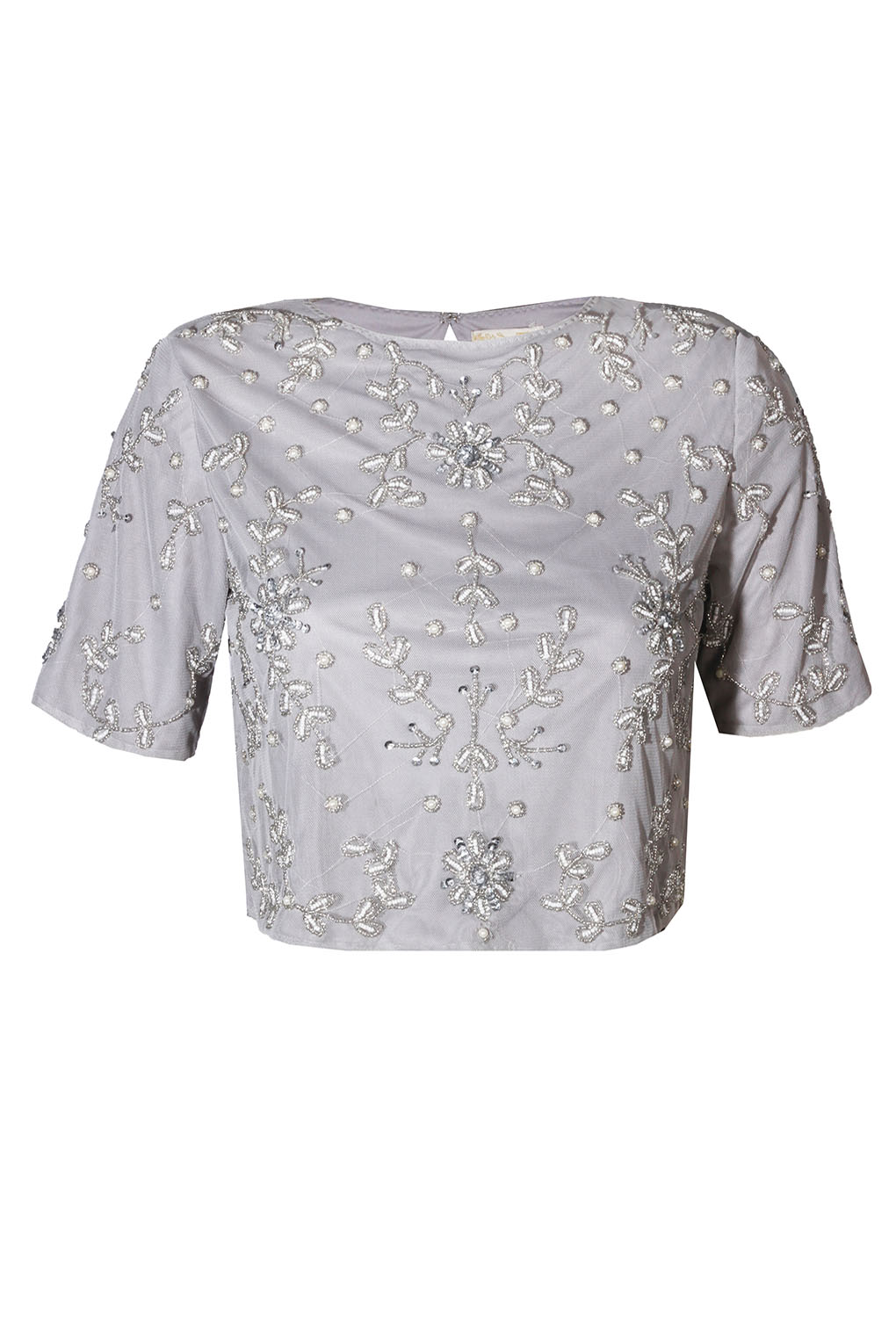 Image of Lace & Beads Anna Grey Top