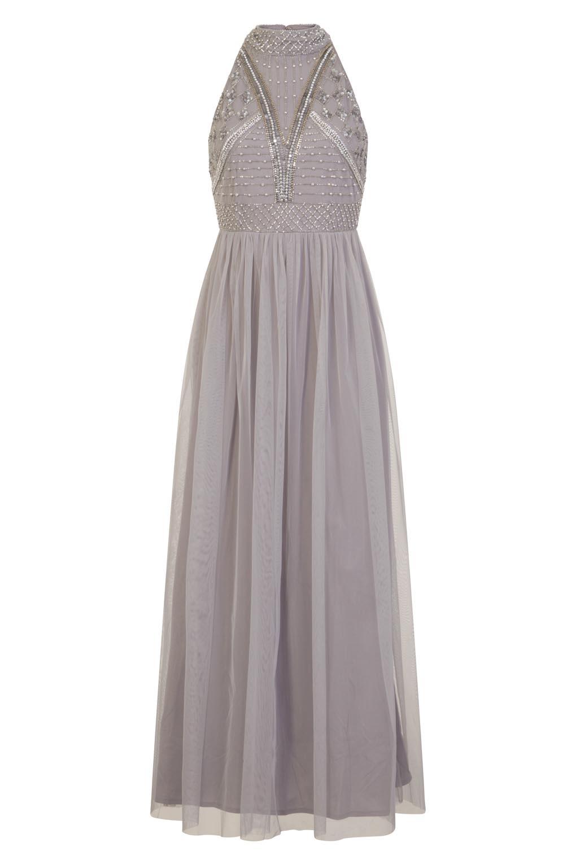 Image of Lace & Beads Acinthe Grey Dress