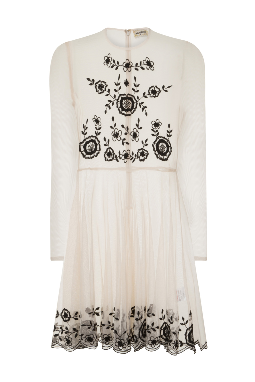 Image of Lace & Beads Amanda Nude Sheer Dress
